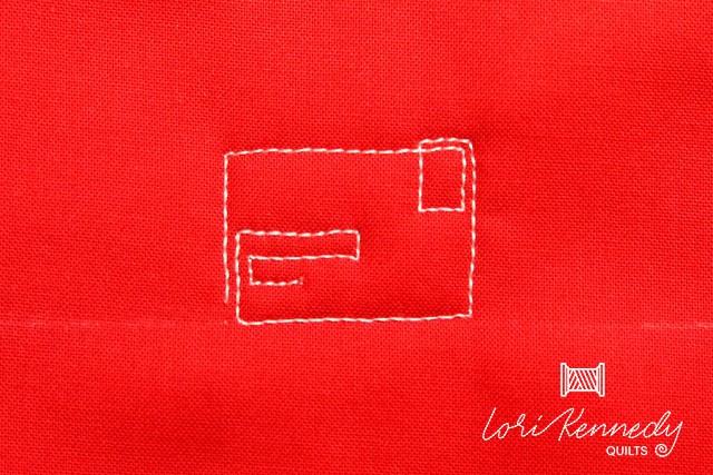 Front side of an envelope motif