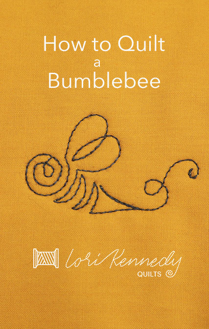 How to Quilt a Flying Bumblebee Pattern