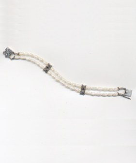 Sold - Sold - Available to Order - 2 Strand Freshwater Pearl with Marcasite - $100