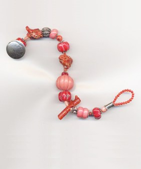 Sold - Available to Order - Mixed Coral with Indian Head Nickel Clasp - $95
