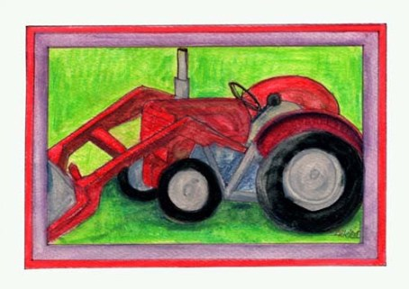 Red Tractor - Card #RKB01 $4