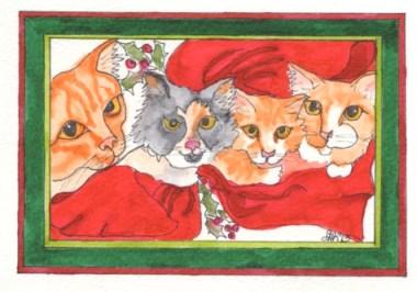 Christmas Kitties - A&HJX13 $4
