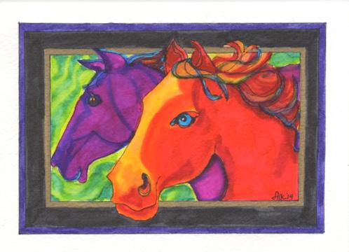 Fauve Horses - GHB14 $4