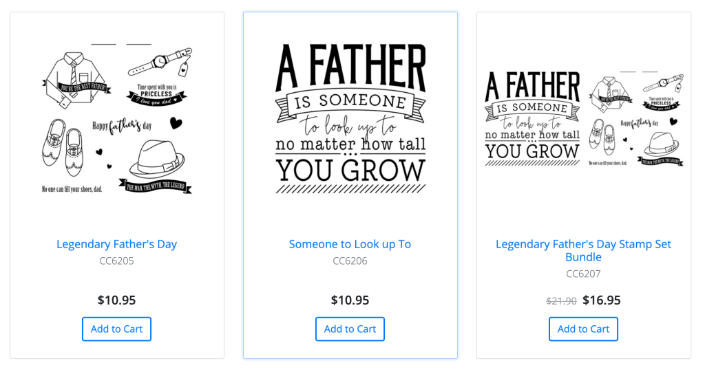 Fathers Day Stamp Sets