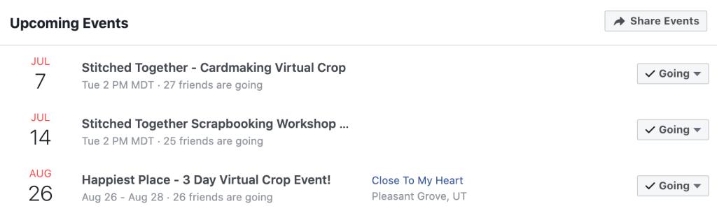 Virtual Crop Schedule