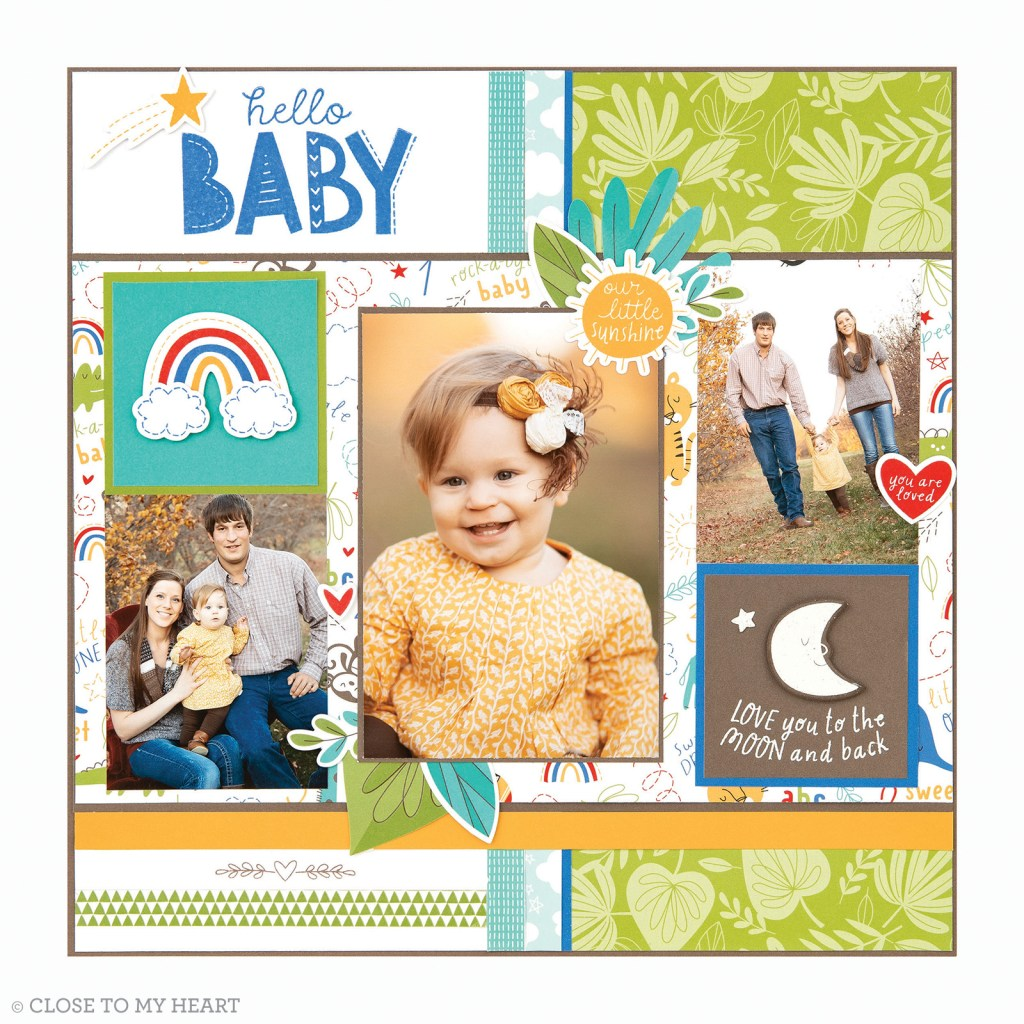 Scrapbooking Stamp & Thin Cuts - Sweet Safari