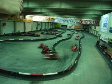 Racing go-karts!