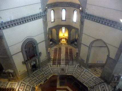 Duomo - Looking down from the top (inside)