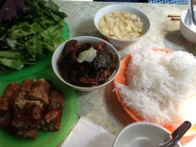 Bun chao gio - my first and last meals in Hanoi