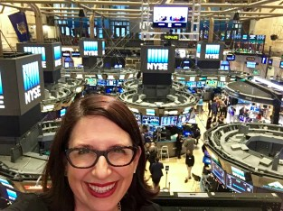 Overlooking the trading floor