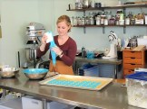 Owner Karli making those yumma macarons at Almond and Ivy in De Pere