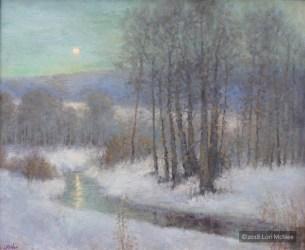 ©2017 Lori McNee Icy Evening 20x24 Oil on linen