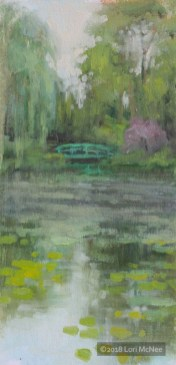 ©2018 Lori McNee Misty Monet Morning 12x6 Oil on multimedia artboard