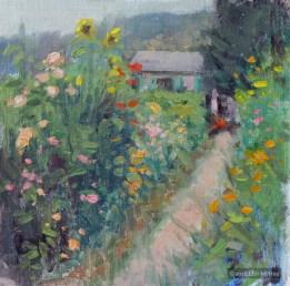 ©2018 Lori McNee Morning at Monet's 8x8 Oil on multimedia artboard