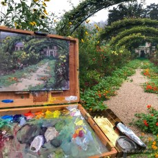 ©2018 Lori McNee Plein air painting in Monet's Garden