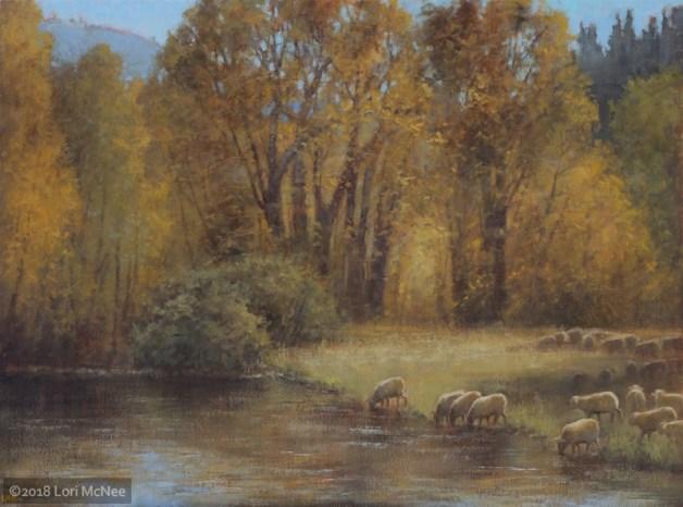 ©2016 Lori McNee Autumn Grazing 24x30 Oil on linen