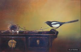 ©2011 Lori McNee Picking up the Pieces 24x36 Oil on panel