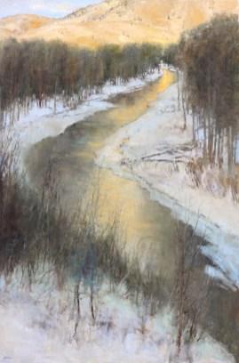 ©2019 Lori McNee Last Light 60x40 Oil on Canvas