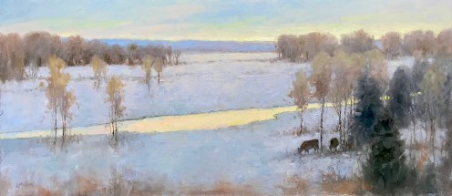 ©2019 Lori McNee Montana Morning 19x43 oil on linen