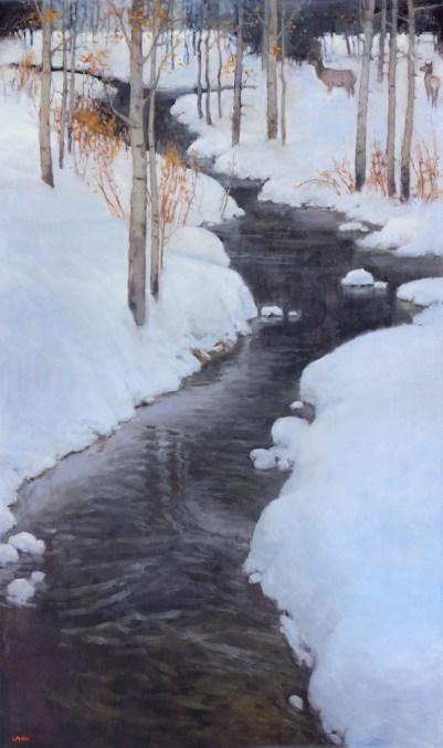©2019 Lori McNee Passing Through 60x36 Oil on Canvas