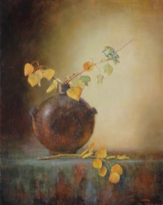 ©2019 Lori McNee Bits of Gold30x24oil on canvas