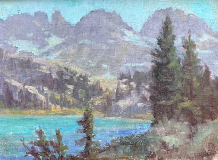 ©206 Lori McNeeAfternoon Ediza Lake8x10oil on linen