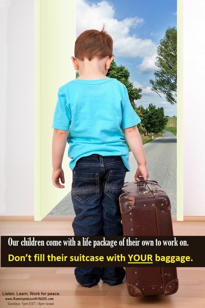 Child with large suitcase