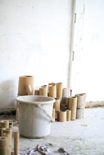 Catriona's studio work in progress