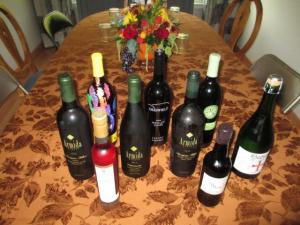 Thanksgiving wine lineup included sparkling, whites, Merlots and dessert wines.