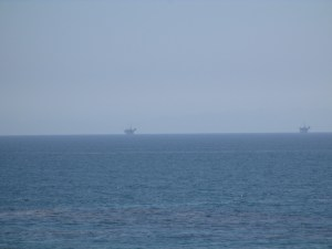 Oil rigs off the coast of Santa Barbara