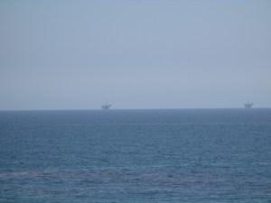 Oil rigs off the coast of Santa Barbara