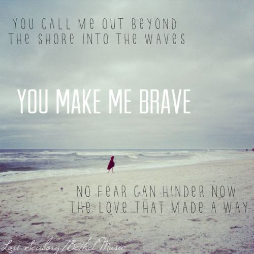 You Make Me Brave on the Beach | Photo by Lori Seaborg | Song by Bethel Music