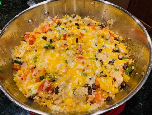 Tex Mex Chicken Cauliflower rice