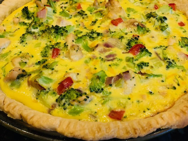 chicken & broccoli quiche