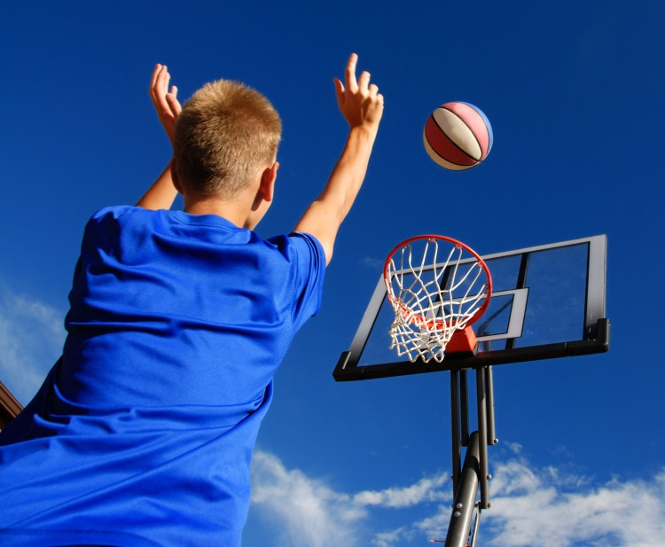 Outdoor play - basketball