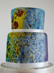 Klimt wedding cake, painted