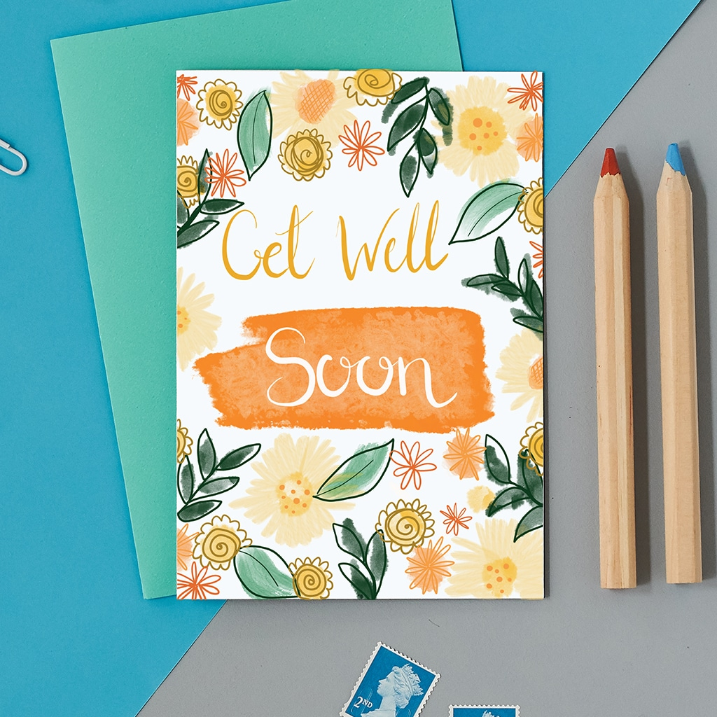 Get Well Soon Greeting Card New Design Free Uk Delivery