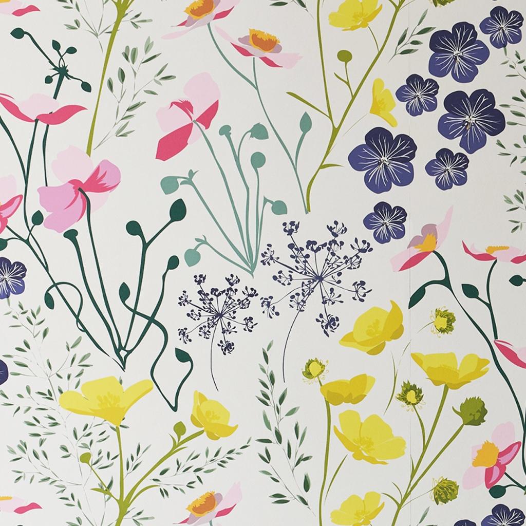 Designer Floral Wallpaper Meadow Free Uk Delivery