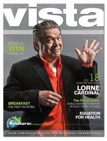 Lorne Cardinal on the cover of VISTA Magazine Issue 77