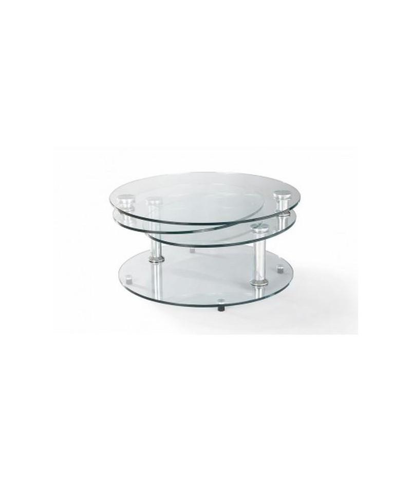 table basse articulee en verre et inox l ornithorynque marseille
