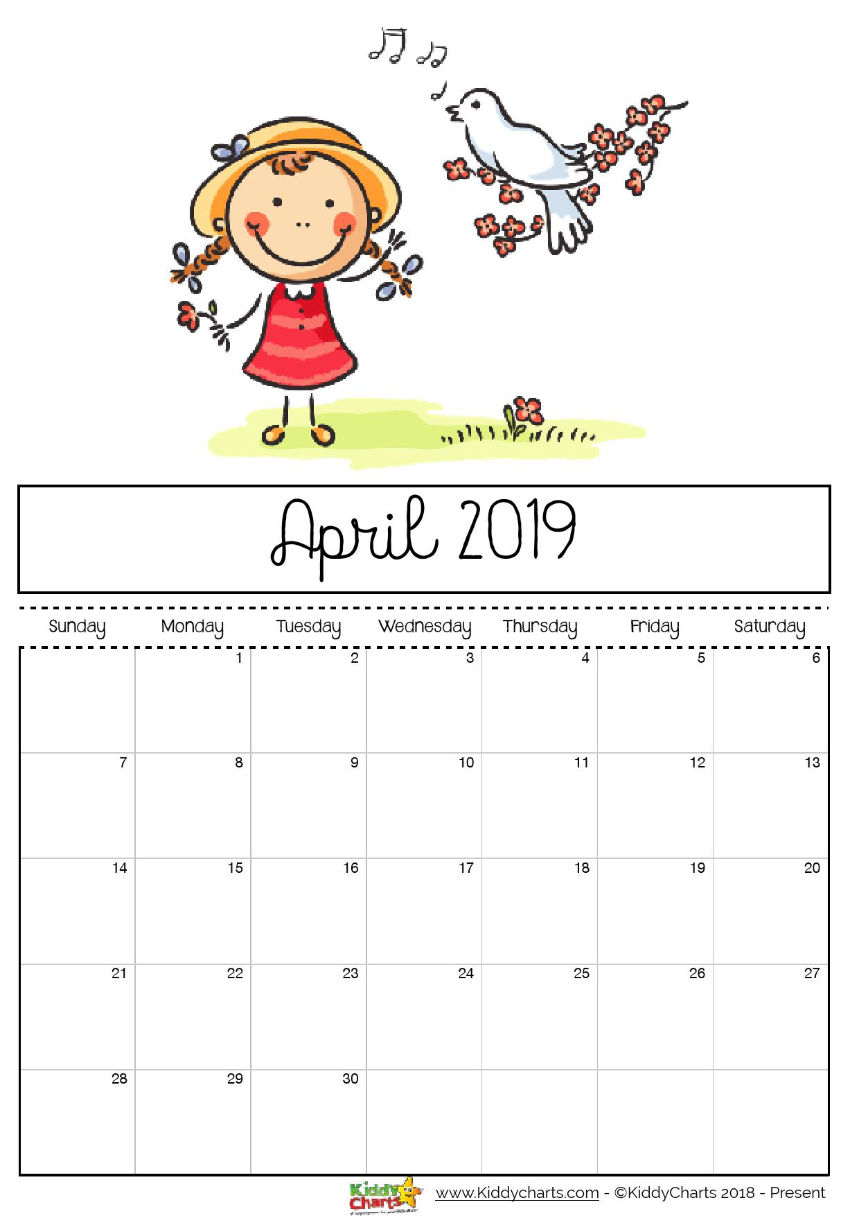 April Reward Chart Printable