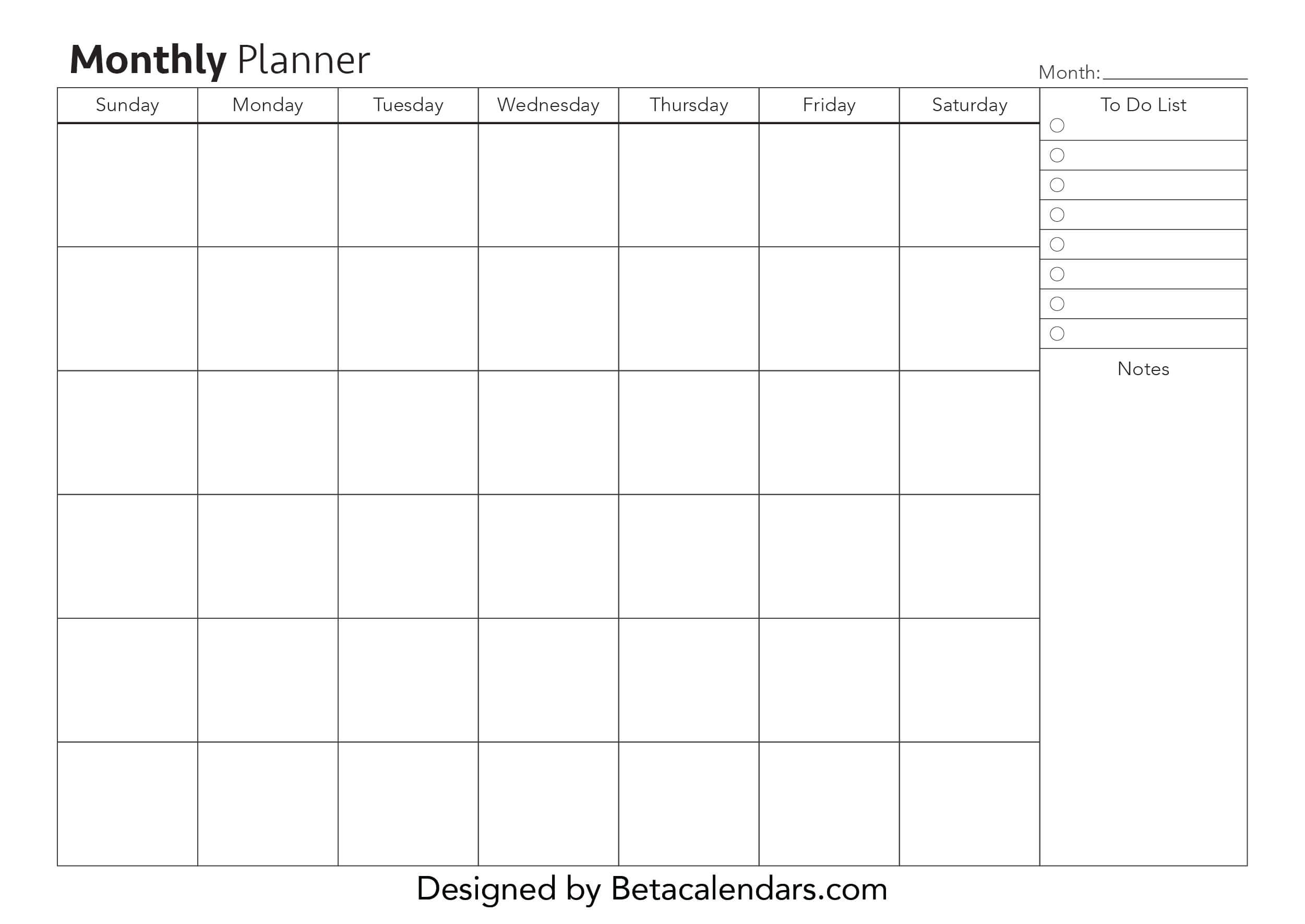 Calendar Planner Hourly Free Printable