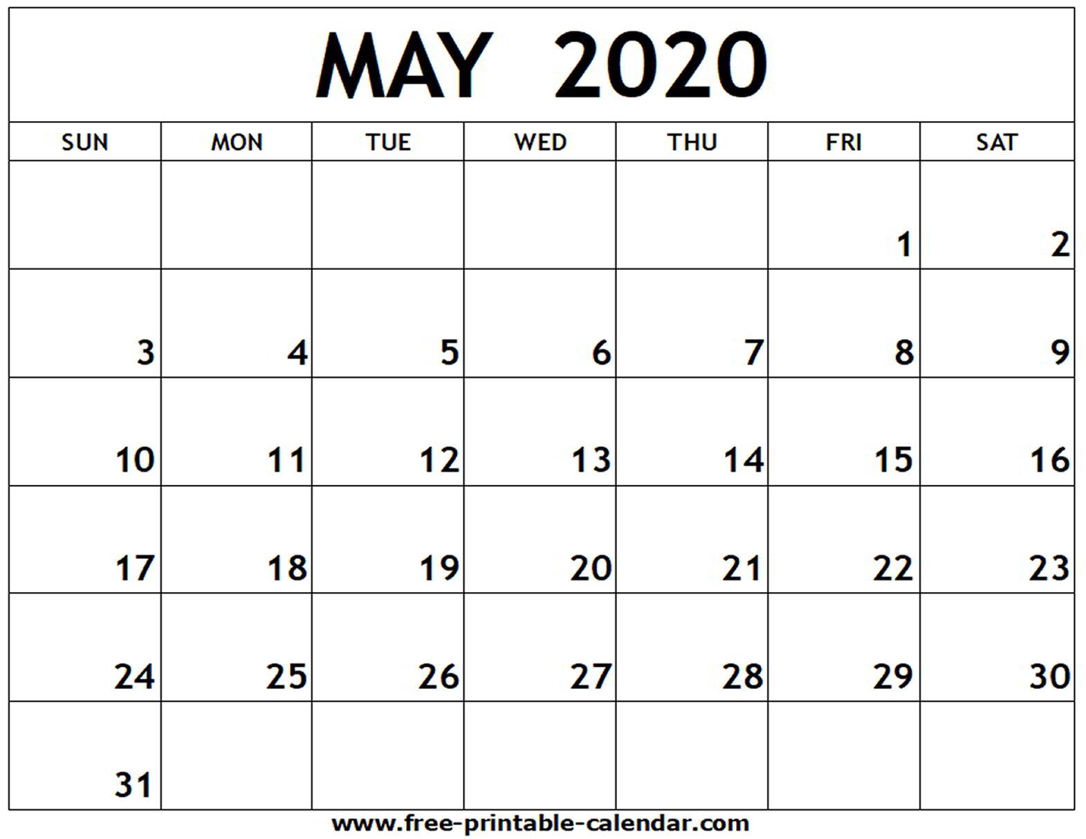 Printable May Calendar With Design