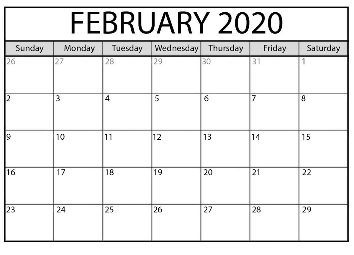 Blank Calendar Printable Monthly