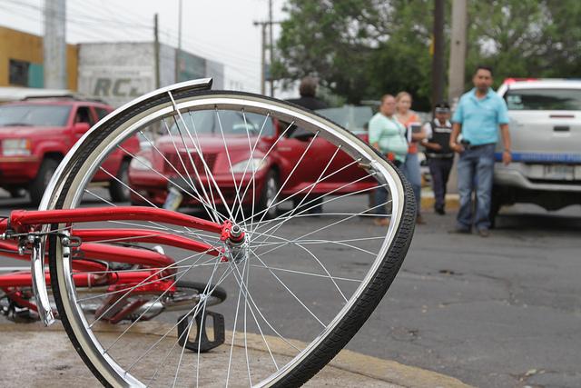 accidente de trafico en bicicleta