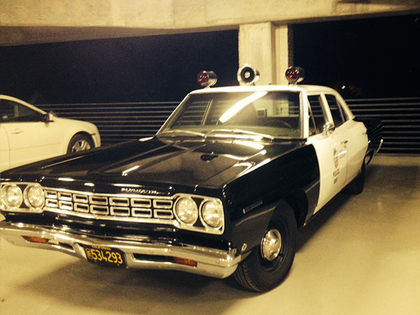 Vintage-police-car