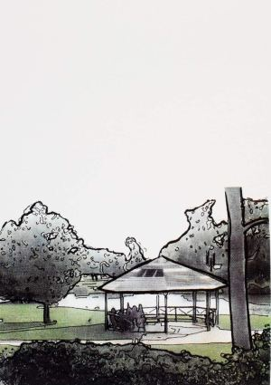 | Artist: Lorraine Corker | Title: Minnawarra Park | Limited edition silk screen print | Exhibition: The Armadale Project | 2008 |