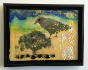 encaustic - tree