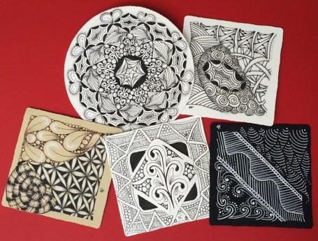image of zentangle tiles