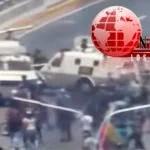 TANQUETA MILITAR EN VENEZUELA ATROPELLA A LOS MANIFESTANTES
